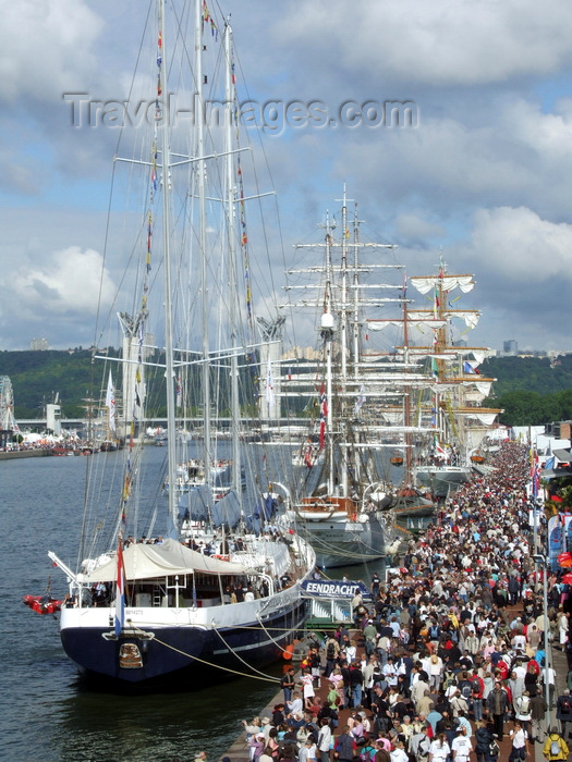 france1395: Rouen, Seine-Maritime, Haute-Normandie, France: tallship armada - Eendracth, Christian Radich, Cuauhtemoc - Upper Normandy - photo by A.Bartel - (c) Travel-Images.com - Stock Photography agency - Image Bank