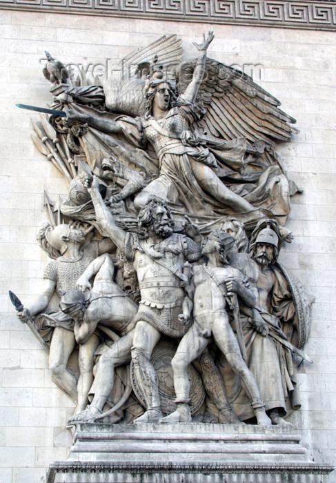 france140: Paris, France: Arc de Triomphe - the war heroes - bas-relief 'La Marseillaise - Le Départ de 1792' by François Rude - photo by K.White - (c) Travel-Images.com - Stock Photography agency - Image Bank