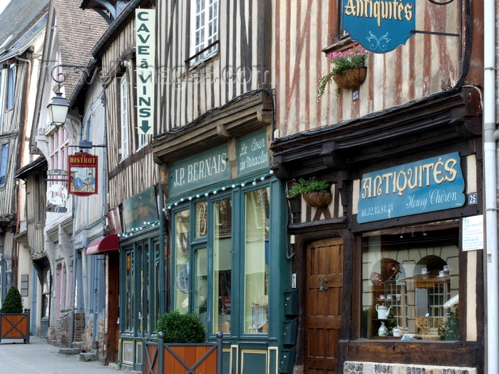 france1408: Bernay, Eure, Haute-Normandie, France: antique shop and antique facades on Rue Gaston Folloppe - photo by A.Bartel - (c) Travel-Images.com - Stock Photography agency - Image Bank