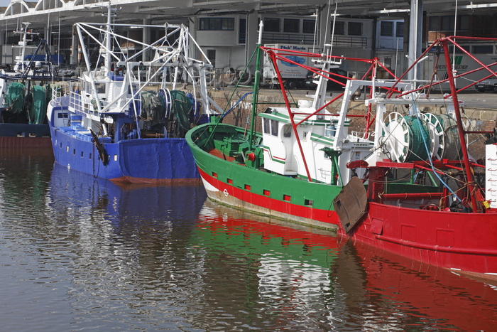 france1413: Dieppe, Seine-Maritime, Haute-Normandie, France: fishing boats along the quay - photo by A.Bartel - (c) Travel-Images.com - Stock Photography agency - Image Bank