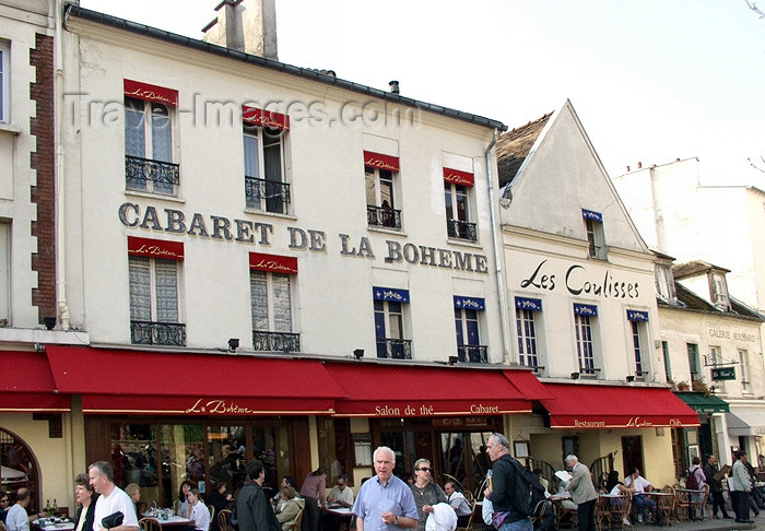 france150: France - Paris: Cabaret de la Boheme - Place du Tertre - Montmartre - photo by K.White - (c) Travel-Images.com - Stock Photography agency - Image Bank