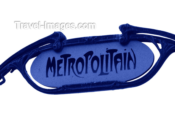 france157: France - Paris: Metropolitain sign, iconic symbol of Paris - Art Nouveau - underground entrance by Hector Guimard - Metro - subway - photo by K.White - (c) Travel-Images.com - Stock Photography agency - Image Bank