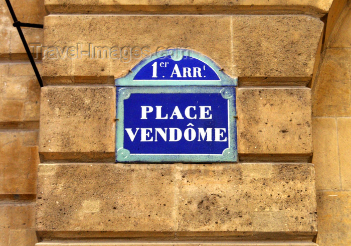 france158: France - Paris: Place Vendôme - the sign - 1er arrondissement - photo by K.White - (c) Travel-Images.com - Stock Photography agency - Image Bank