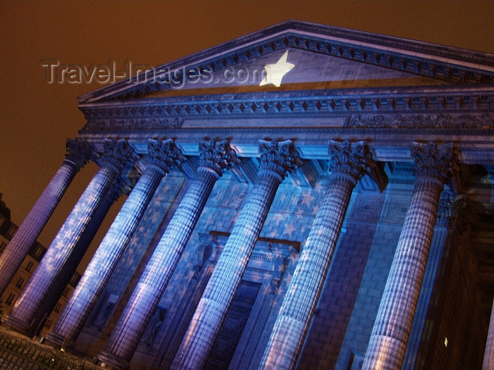 france162: France - Paris: Eglise de la Madeleine at night - Corinthian columns - Neo-Classical style - rive droite - nocturnal - photo by K.White - (c) Travel-Images.com - Stock Photography agency - Image Bank