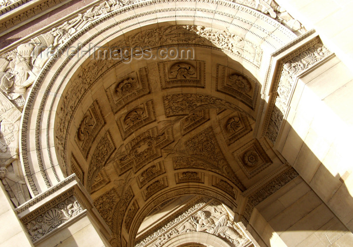 france166: France - Paris: Arc du Carasol / Carasol arch - detail - eastern extreme of the Axe historique - photo by K.White - (c) Travel-Images.com - Stock Photography agency - Image Bank