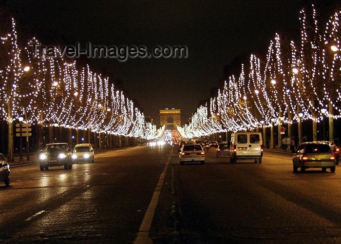 white christmas lights photography. france172 france paris night avenue des champs elysees christmas lights white photography