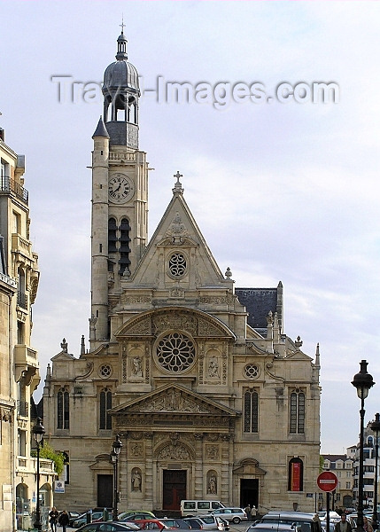 france276: France - Paris: Church in Latin Quarter... with a minaret - mosque - photo by J.Kaman - (c) Travel-Images.com - Stock Photography agency - Image Bank