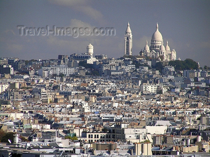 france280: France - Paris: Sacré Coeur and Montmartre - view from the top of Arc de Triomphe - photo by J.Kaman - (c) Travel-Images.com - Stock Photography agency - Image Bank