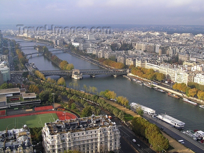 france285: France - Paris: Seine river and Paris from the Eiffel tower - Banks of the Seine - Unesco world heritage site - photo by J.Kaman - (c) Travel-Images.com - Stock Photography agency - Image Bank