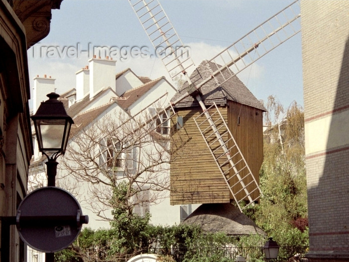france304: France - Paris: Le Moulin de la Galette / windmill - photo by M.Bergsma - (c) Travel-Images.com - Stock Photography agency - Image Bank