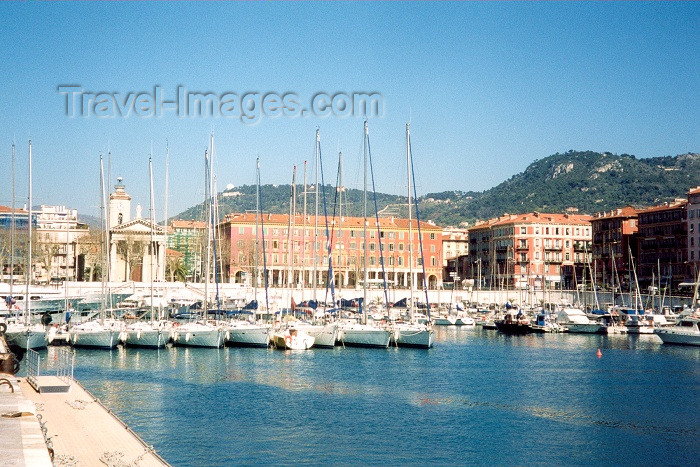 france37: France - Nice (Alpes Maritimes - Provence-Alpes-Cote d'Azur): Bassin Lympia - the yachts of the French Riviera - Quai Cassini - port - harbour - photo by M.Torres - (c) Travel-Images.com - Stock Photography agency - Image Bank