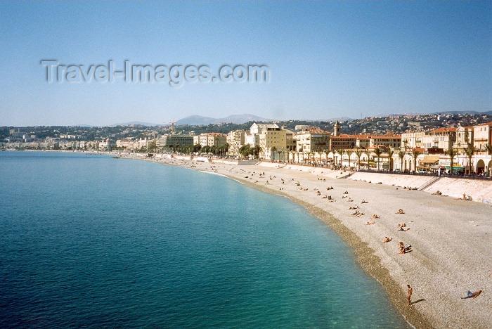 france38: France - Nice (Alpes Maritimes): Promenade des Anglais and Quai des Etats-Unis - gazing at la Croisette - Baie des Anges - photo by M.Torres - (c) Travel-Images.com - Stock Photography agency - Image Bank