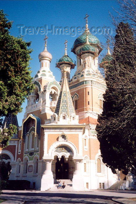 france42: France - Nice (Alpes Maritimes - Provence-Alpes-Cote d'Azur): Russian Orthodox Cathedral of St Nicholas - Avenue Nicolas II, designed by M.T. Preobrajensky, architect of the Alexander Nevski Cathedral in Tallinn - Cathédrale Saint-Nicolas - photo by M.Torres - (c) Travel-Images.com - Stock Photography agency - Image Bank