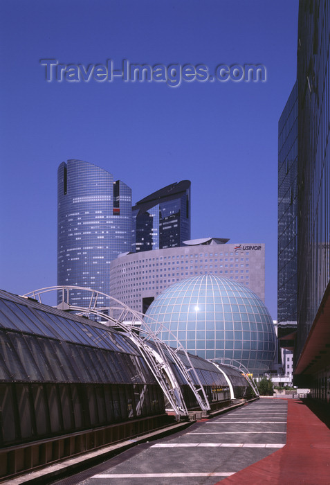 france469: Paris, France: La Défense - Dôme Imax, Tour Pacific and Tours Société Générale - photo by A.Bartel - (c) Travel-Images.com - Stock Photography agency - Image Bank