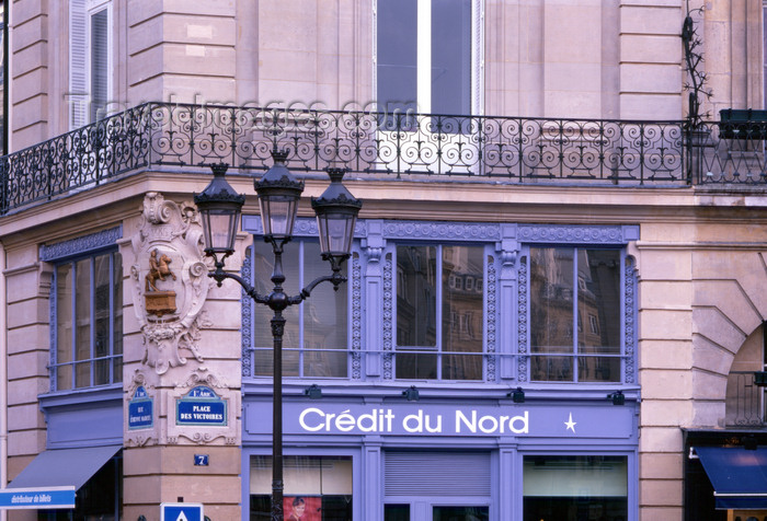 france470: Paris, France: Place des Victoires, corner with Rue Étienne Marcel - bank - branch of Crédit du Nord - 1er. Arrt. - photo by A.Bartel - (c) Travel-Images.com - Stock Photography agency - Image Bank