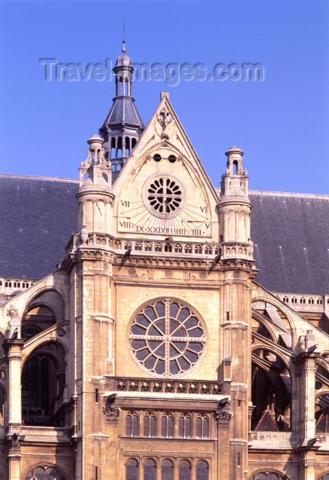 france472: Paris, France: sundial of St. Eustache church - Gothic architecture by Domenico da Cortona - rue Montorgueuil, Les Halles - Ier arrondissement - photo by A.Bartel - (c) Travel-Images.com - Stock Photography agency - Image Bank