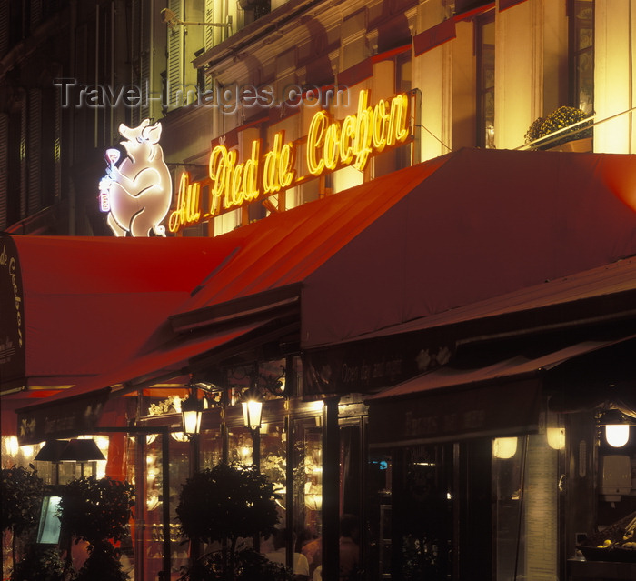 france486: Paris, France: Pied de Cochon restaurant - brasserie - rue Coquillière - 1er arrondissement - photo by A.Bartel - (c) Travel-Images.com - Stock Photography agency - Image Bank