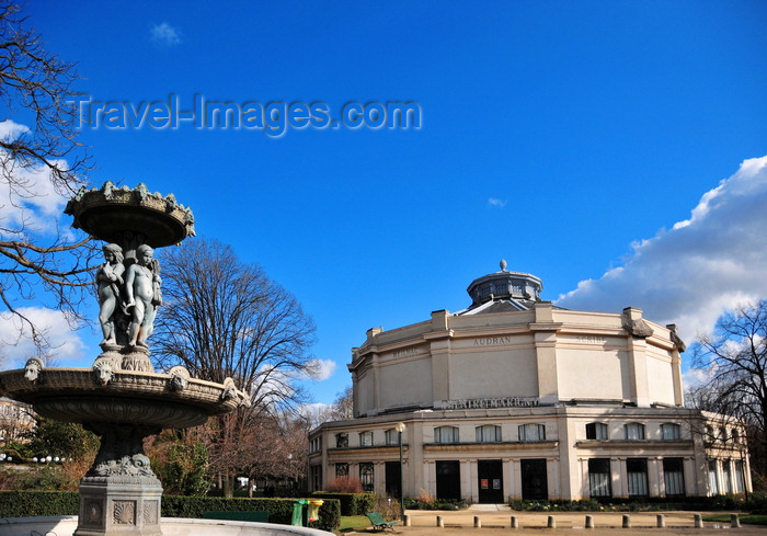 france498: Paris, France: Circus fountain and Marigny Theatre - architects Charles Garnier and Édouard Niermans - Carré Marigny, Champs-Élysées - 8e arrondissement - photo by M.Torres - (c) Travel-Images.com - Stock Photography agency - Image Bank