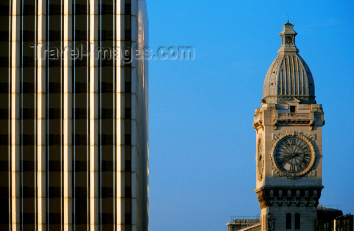 france638: Paris, France: clock tower of Gare de Lyon - 12eme - photo by Y.Guichaoua - (c) Travel-Images.com - Stock Photography agency - Image Bank