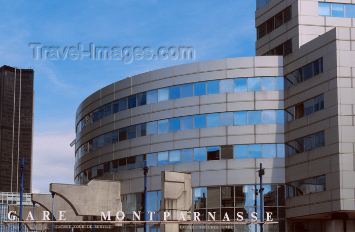 france641: Paris: Gare SNCF Montparnasse and Tour Montparnasse - photo by Y.Guichaoua - (c) Travel-Images.com - Stock Photography agency - Image Bank
