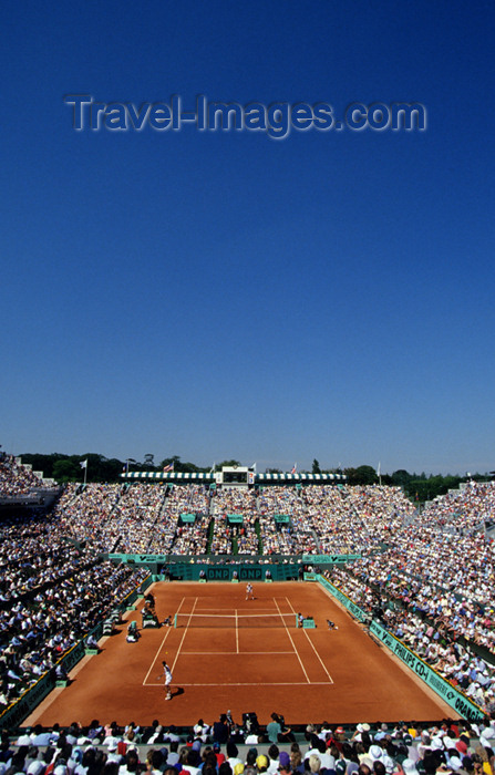france651: Paris, France: tennis - Roland Garros Tournament - Grand Slam - from above - Stade Roland Garros - photo by Y.Guichaoua - (c) Travel-Images.com - Stock Photography agency - Image Bank