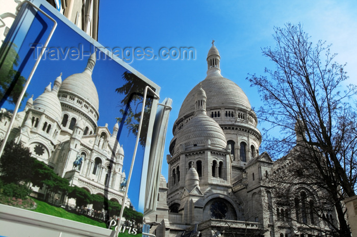 france662: Paris, France: Sacré-Cœurbasilica - postcard - Montmartre - photo by Y.Guichaoua - (c) Travel-Images.com - Stock Photography agency - Image Bank