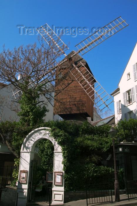 france666: Paris, France: Moulin de la Galette - rue Lepic - Butte Montmartre - photo by Y.Guichaoua - (c) Travel-Images.com - Stock Photography agency - Image Bank