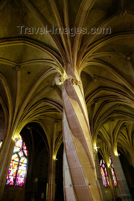 france671: Paris, France: interior Saint Severin Church in Quartier Latin - photo by Y.Guichaoua - (c) Travel-Images.com - Stock Photography agency - Image Bank