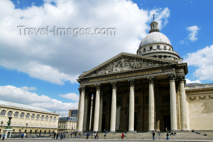 france680: Paris, France: Panthéon - Montagne Sainte-Geneviève - Ve arrondissement - photo by Y.Guichaoua - (c) Travel-Images.com - Stock Photography agency - Image Bank