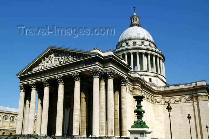 france683: Paris, France: Place du Panthéon - Neoclassicism - quartier latin - rive gauche - Vème - photo by Y.Guichaoua - (c) Travel-Images.com - Stock Photography agency - Image Bank