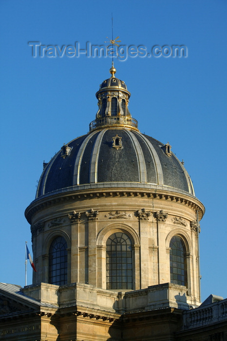 france705: Paris, France: dome of the Institut de France - Palais de l'Institut - photo by Y.Guichaoua - (c) Travel-Images.com - Stock Photography agency - Image Bank