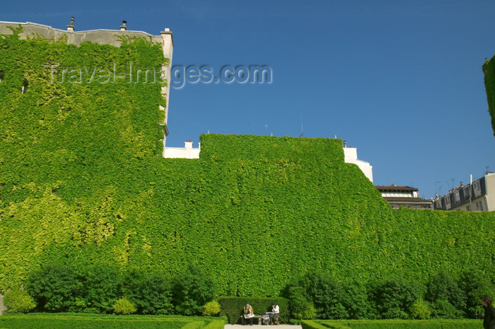 france715: Paris, France: Hôtel de Sully - garden - green wall - rue Saint-Antoine - photo by Y.Guichaoua - (c) Travel-Images.com - Stock Photography agency - Image Bank