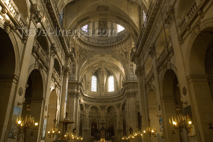 france716: Paris, France: inside Saint-Paul Church - Marais district - IVe arrondissement - photo by Y.Guichaoua - (c) Travel-Images.com - Stock Photography agency - Image Bank