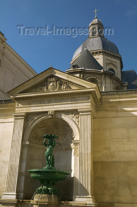 france717: Paris, France: Saint-Paul church from Charlemagne street - quartier du Marais - photo by Y.Guichaoua - (c) Travel-Images.com - Stock Photography agency - Image Bank