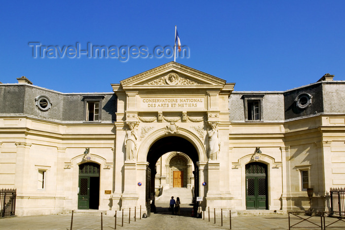 france724: Paris, France: Conservatoire des Arts et Métiers - entrance - photo by Y.Guichaoua - (c) Travel-Images.com - Stock Photography agency - Image Bank