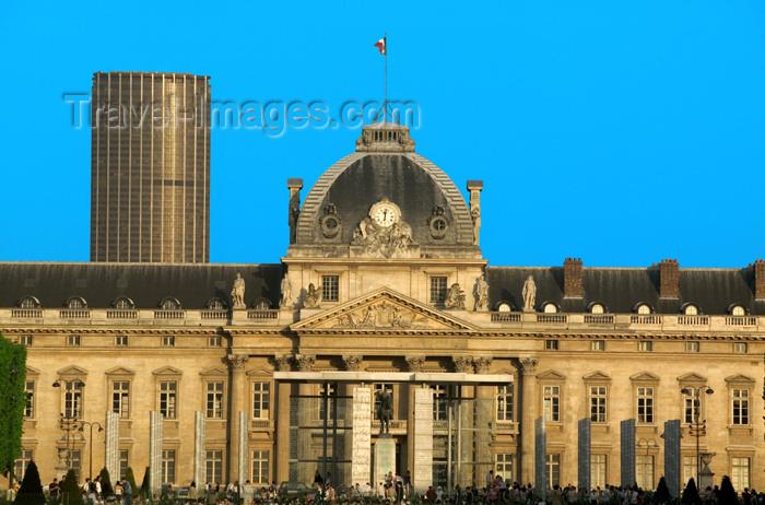france761: Paris, France: Champ de Mars, MilitarySchool and Mur pour la Paix - VIIe arrondissement - photo by Y.Guichaoua - (c) Travel-Images.com - Stock Photography agency - Image Bank
