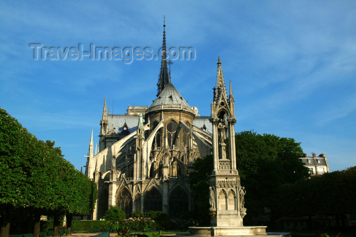 france768: Paris, France: Notre-Dame cathedral - rear - photo by Y.Guichaoua - (c) Travel-Images.com - Stock Photography agency - Image Bank