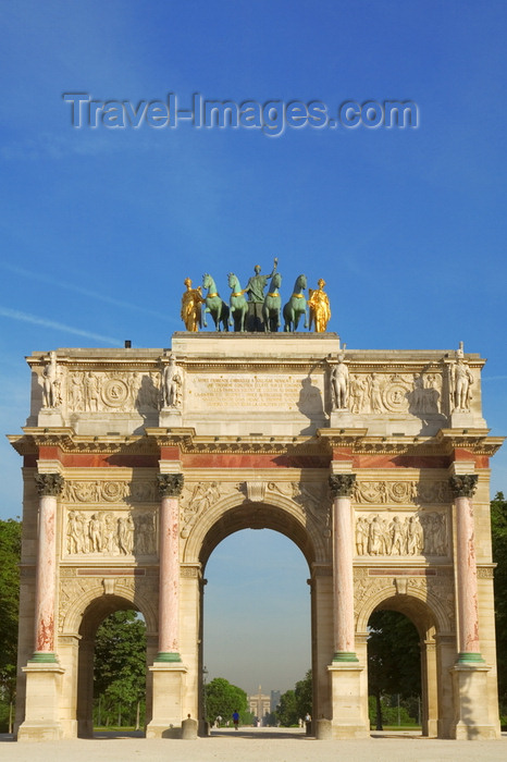 france787: Paris, France: Carrousel Triumph Ach - modeled on the Arch of Constantine - 1er arrondissement - photo by Y.Guichaoua - (c) Travel-Images.com - Stock Photography agency - Image Bank