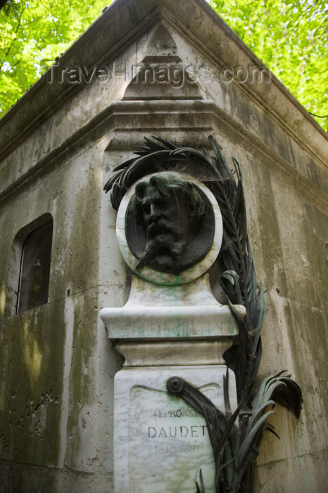 france813: Paris, France: Grave of Alphonse Daudet - novelist - Pere Lachaise cemetery - photo by Y.Guichaoua - (c) Travel-Images.com - Stock Photography agency - Image Bank