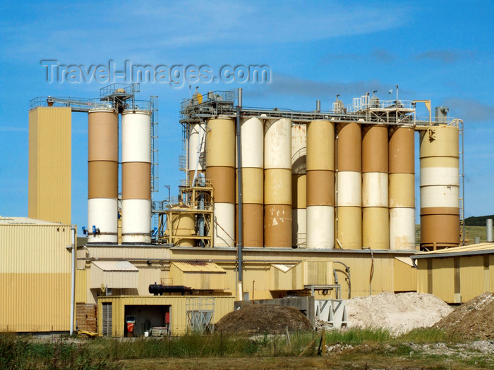 france95: Mers-les-Bains, Somme department, Picardie, France: bentonite plant - silos - photo by A.Bartel - (c) Travel-Images.com - Stock Photography agency - Image Bank