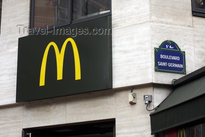 france958: Paris, France: McDonalds golden arches logo on Boulevard Saint Germain - 5e arrondissement - photo by A.Bartel - (c) Travel-Images.com - Stock Photography agency - Image Bank