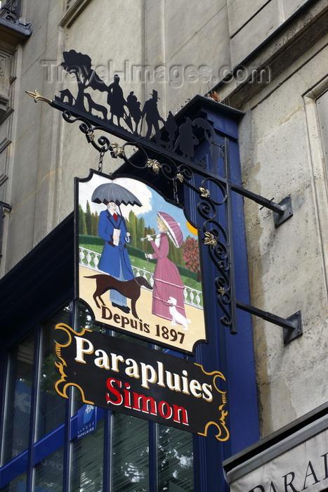 france959: Paris, France: 'Parapluies Simon' - umbrella shop, Boulevard Saint-Michel - 6e arrondissement - photo by A.Bartel - (c) Travel-Images.com - Stock Photography agency - Image Bank