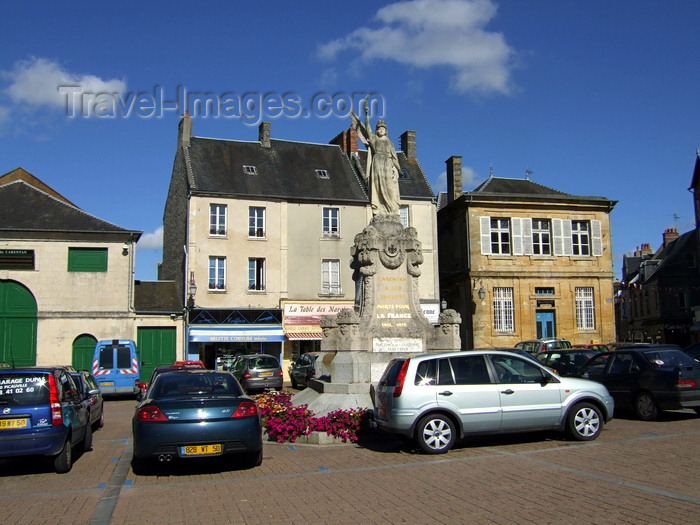 france986: Carentan, Manche, Basse-Normandie, France: War Memorial - Place de la Republique - the town was demolished by American and British bombs in WWII - Town Center - photo by A.Bartel - (c) Travel-Images.com - Stock Photography agency - Image Bank