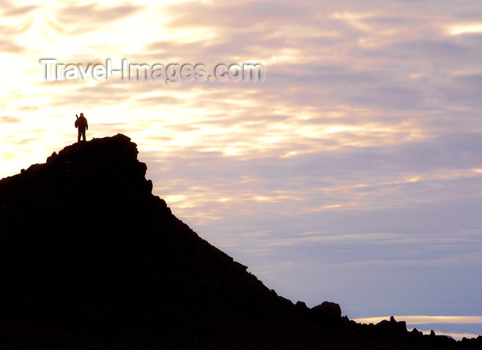 franz-josef19: Franz Josef Land Armed guard on lookout hill, Hall Island - Arkhangelsk Oblast, Northwestern Federal District, Russia - photo by Bill Cain - (c) Travel-Images.com - Stock Photography agency - Image Bank