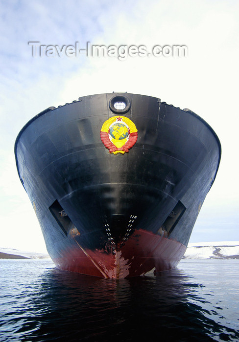 franz-josef24: Franz Josef Land Bow Hull of ship Kapitan Dranitsyn - Arkhangelsk Oblast, Northwestern Federal District, Russia - photo by Bill Cain - (c) Travel-Images.com - Stock Photography agency - Image Bank