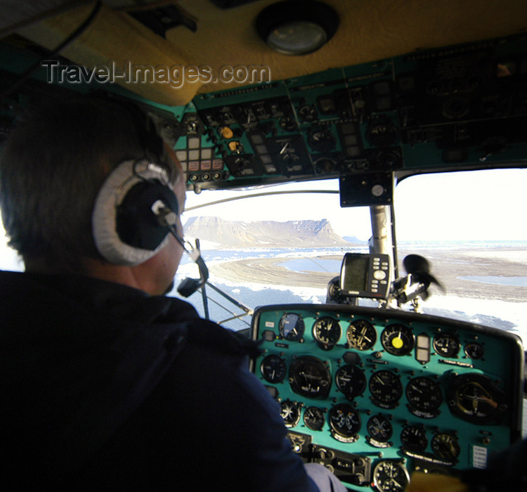 franz-josef31: Franz Josef Land Helicopter cockpit - Arkhangelsk Oblast, Northwestern Federal District, Russia - photo by Bill Cain - (c) Travel-Images.com - Stock Photography agency - Image Bank