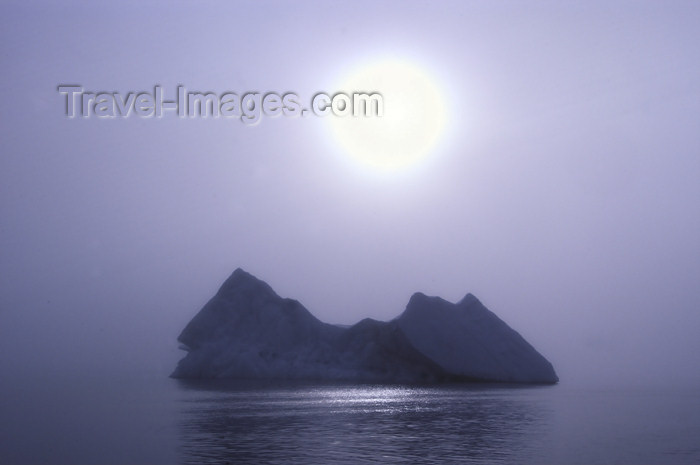 franz-josef38: Franz Josef Land Iceberg and large, diffuse sun - Arkhangelsk Oblast, Northwestern Federal District, Russia - photo by Bill Cain - (c) Travel-Images.com - Stock Photography agency - Image Bank