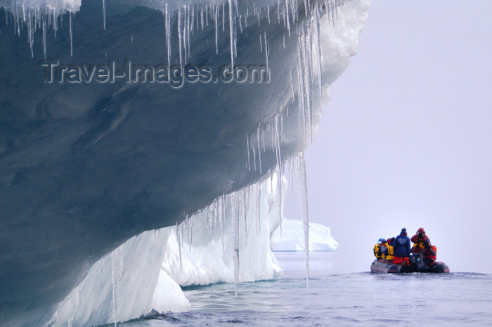 franz-josef42: Franz Josef Land Iceberg with icicles and zodiac - Arkhangelsk Oblast, Northwestern Federal District, Russia - photo by Bill Cain - (c) Travel-Images.com - Stock Photography agency - Image Bank
