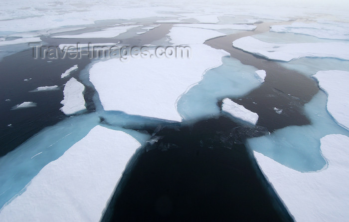 franz-josef44: Franz Josef Land Leads through pack ice from ship - Arkhangelsk Oblast, Northwestern Federal District, Russia - photo by Bill Cain - (c) Travel-Images.com - Stock Photography agency - Image Bank