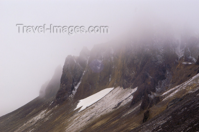 franz-josef47: Franz Josef Land Mountians in fog, Cape Tegethoff, Hall Island - Arkhangelsk Oblast, Northwestern Federal District, Russia - photo by Bill Cain - (c) Travel-Images.com - Stock Photography agency - Image Bank